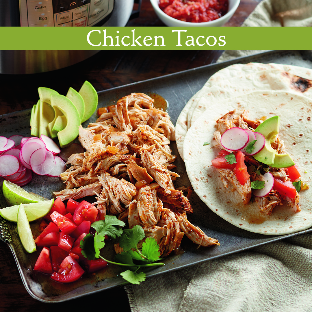 Gooseberry Patch Recipes Shredded Chicken Soft Tacos From Best Instant Pot Cookbook